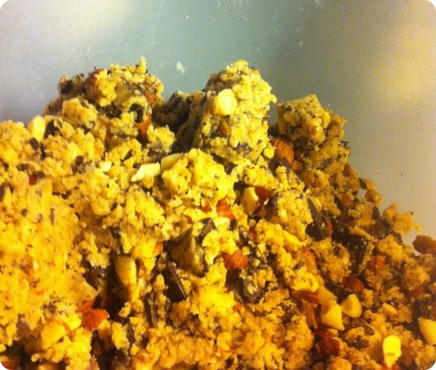 Chocolate chip cookies - Blanda snabbt ihop till en deg