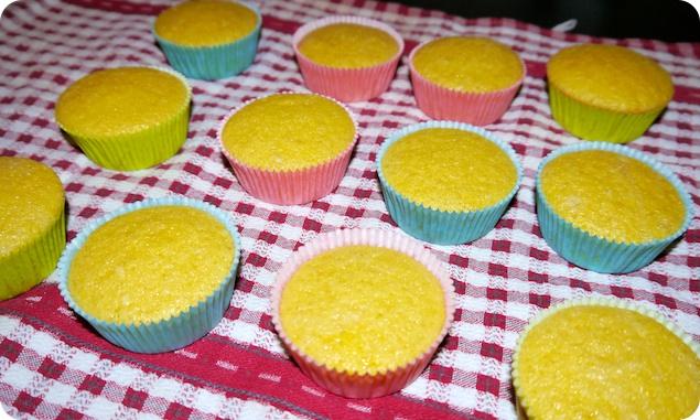 Påskcupcakes - Gräddade