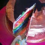 Rainbow cake med Buddha - 8