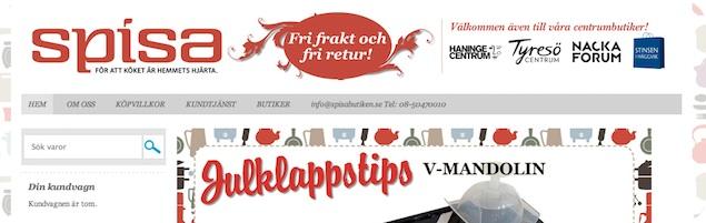 Spisabutiken.se (skärmdump från hemsidan)